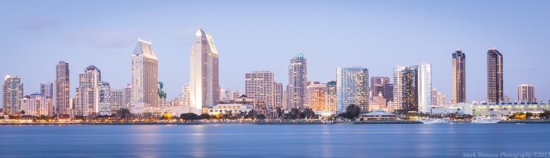 San Diego Skyline Seascape Cityscape Coranado Panorama yacht waterscape bay boats harbor city lights
